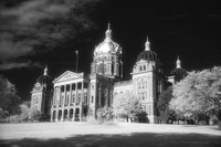 Iowa State Capital Building in infrared