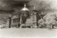 Iowa State Capital in infrared